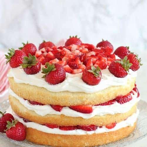 Soñar con un pastel de fresas